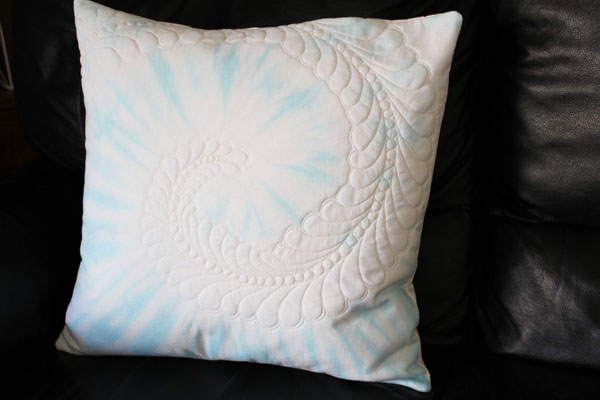 quilted tie dye pillow