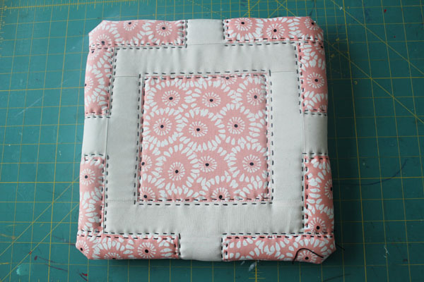 stitched foam quilt block