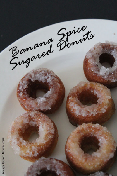 Banana Spice Sugared Donuts