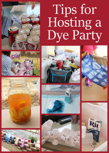 Tips for hosting a dye party