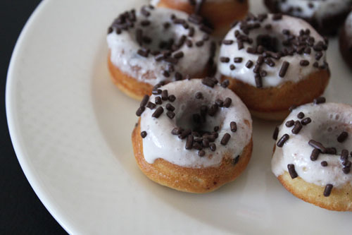 Vanilla Chocolate Chip Mini Donut Recipe