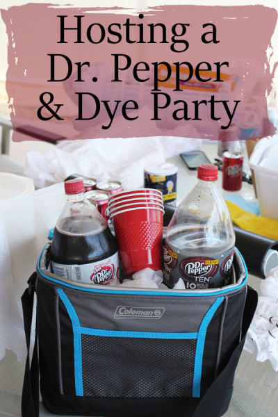 hosting a dr pepper and dye party