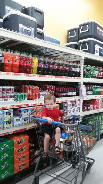 shopping for dr pepper at walmart