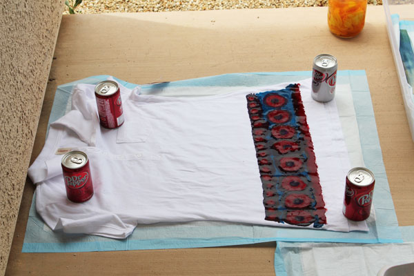 use dr pepper to hold down clothes