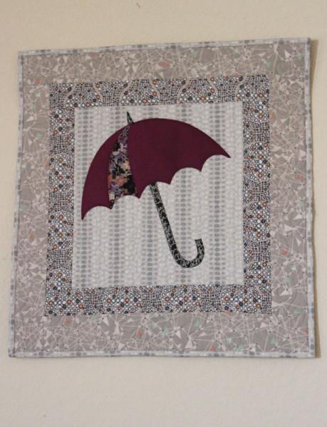 Umbrella applique wall hangning