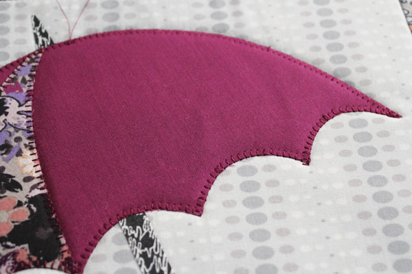 applique down umbrella
