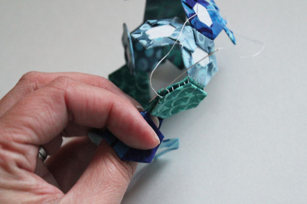 fold down hexagons