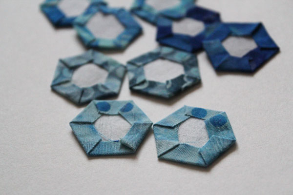 glued hexies