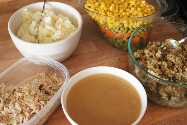 ingredients for turkey pot pie