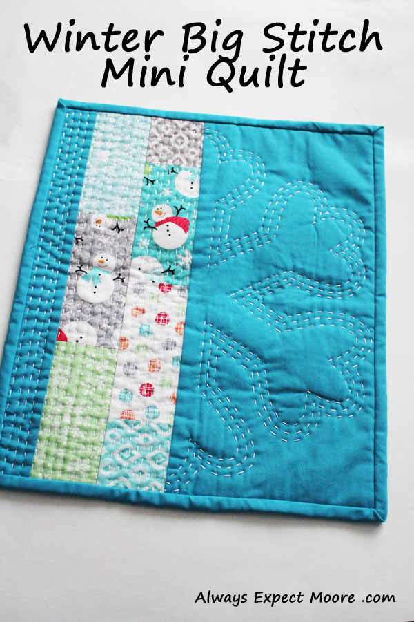modern mini holiday quilt