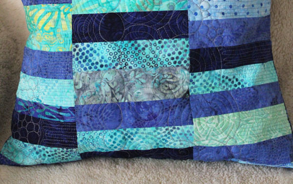 pillow quilted