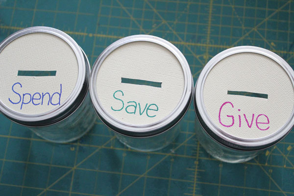 finished savings jars
