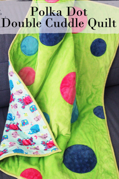 Polka Dot Double Cuddle Quilt