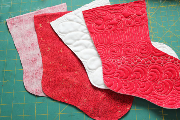 cut lining pieces