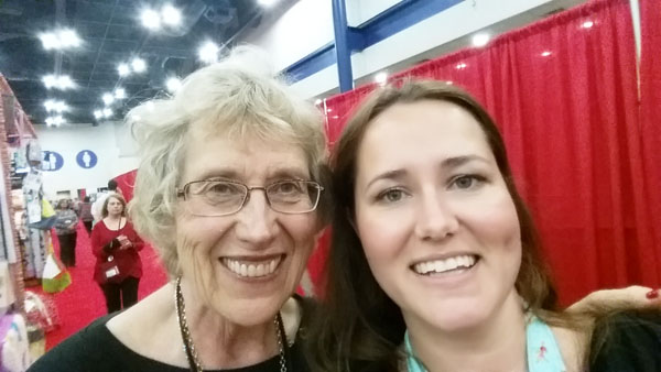 selfie with Eleanor Burns