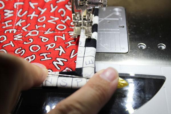 stitch corner in place