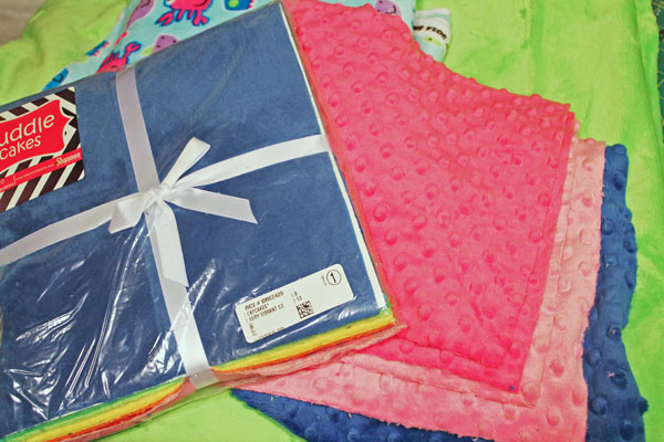 supplies for cuddle quilt
