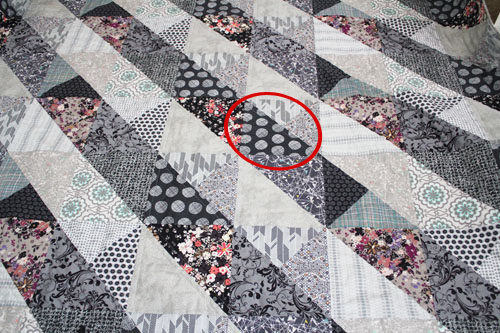 wrong fabric in place
