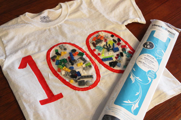 100 day of school lego shirt