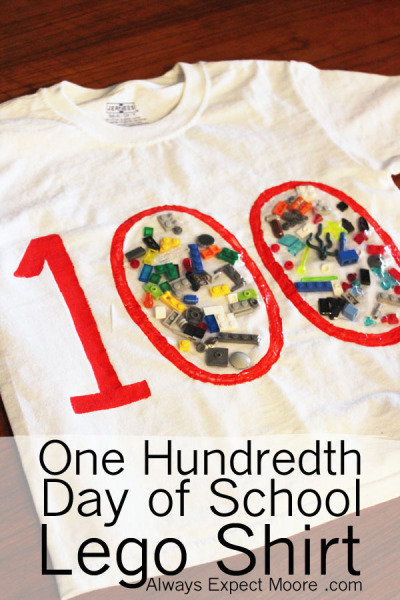 100th day of school lego shirt