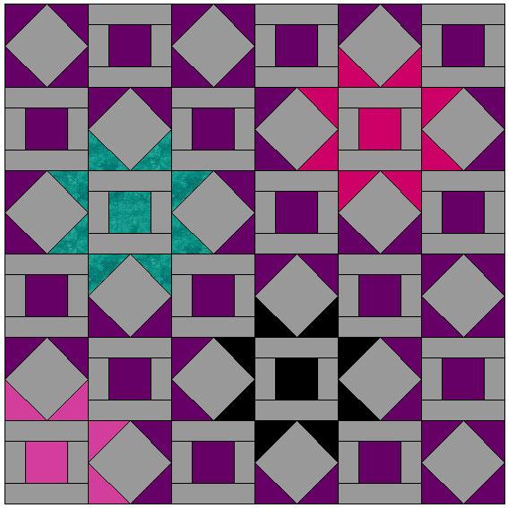 stardust quilt layout