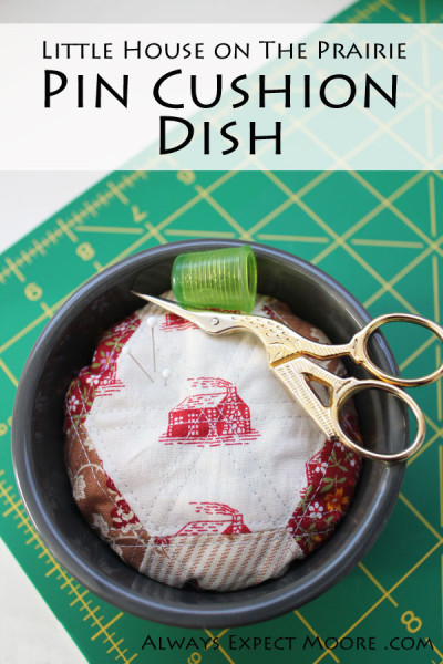 make this simple English Paper Pieced pincushion dish to hold your sewing notions