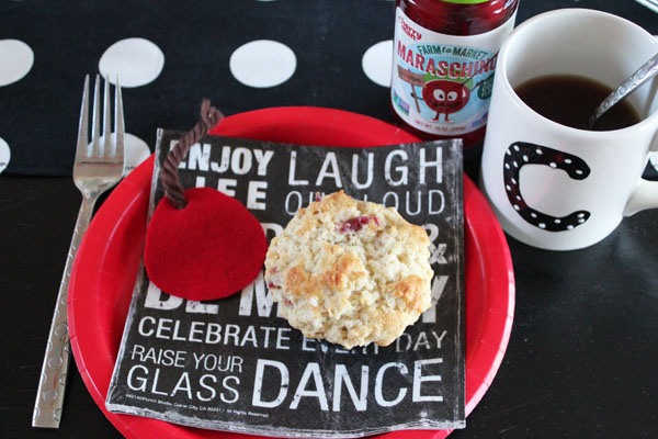 cute cherry muffin place setting