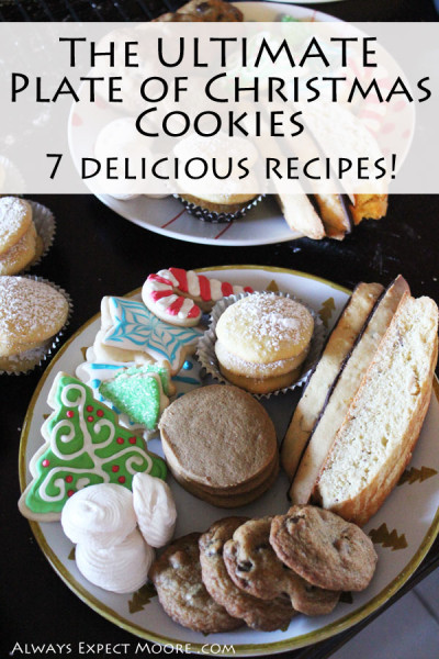 The ultimate plate of Christmas Cookies! These 6 cookie recipes, and one perfect decorator icing recipie will help you make the perfect plate of holiday cookies. Tips for making all the cookies yourself over 2 days - or divide up the recipes among friends for the ultimate cookie exchange!