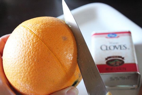 cut into orange