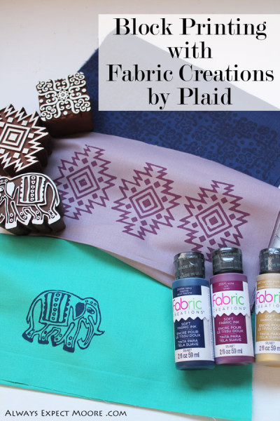 Block Printing with Fabric