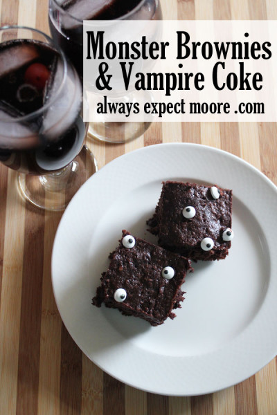 Monster Brownies and Vampire Coke - delicious treats for watching Hotel Transylvania II