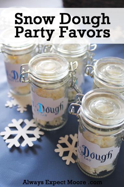 Snow Dough Party Favors