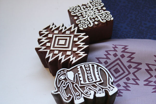block stamps for fabric printing