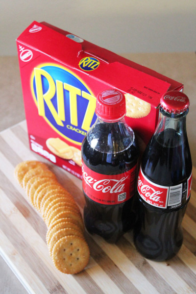 Coca-cola and RITZ crackers - great for snacking