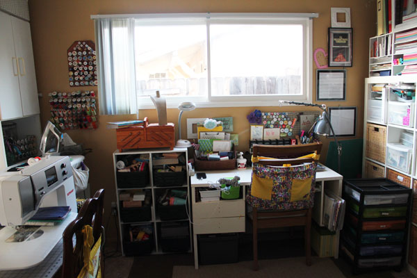 desk in the craft studio