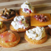 eight different delicious Ritz cracker toppings sweet and savory options