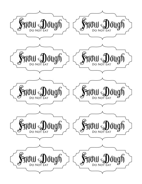 snow dough labels