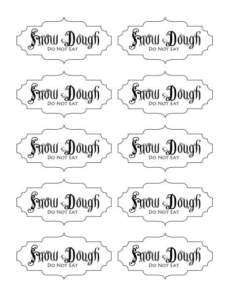 snow dough labels
