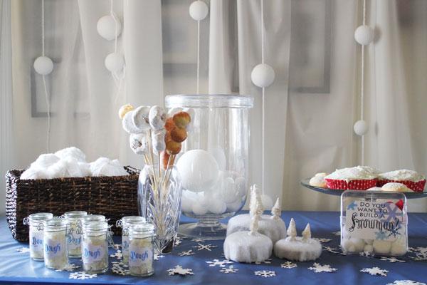 snowball party decor