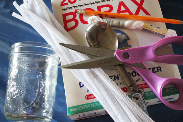 supplies for borax crystals