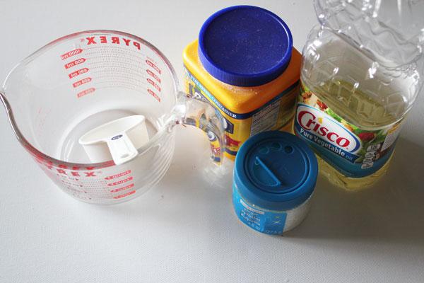 supplies for snow dough