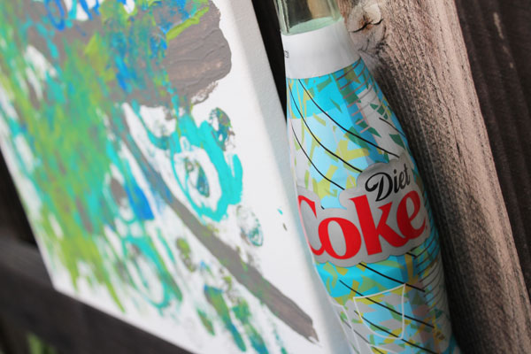 canvas inspired by Diet Coke