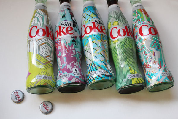 pick a design from the different Diet Coke bottles