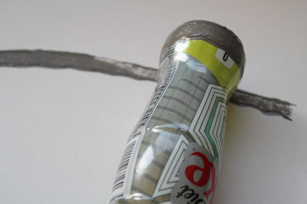 roll bottle across canvas