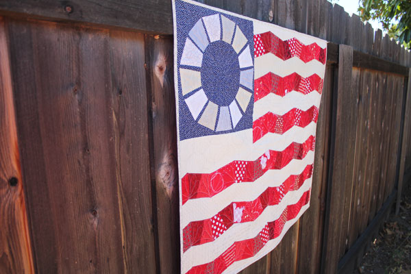 fun and scrappy flag quilt pattern