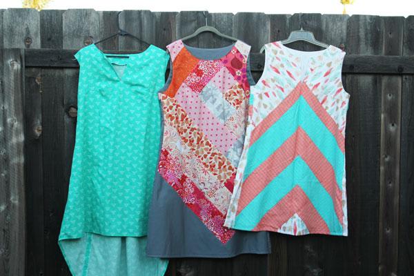 the three dresses