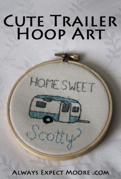 Cute Trailer Hoop Art