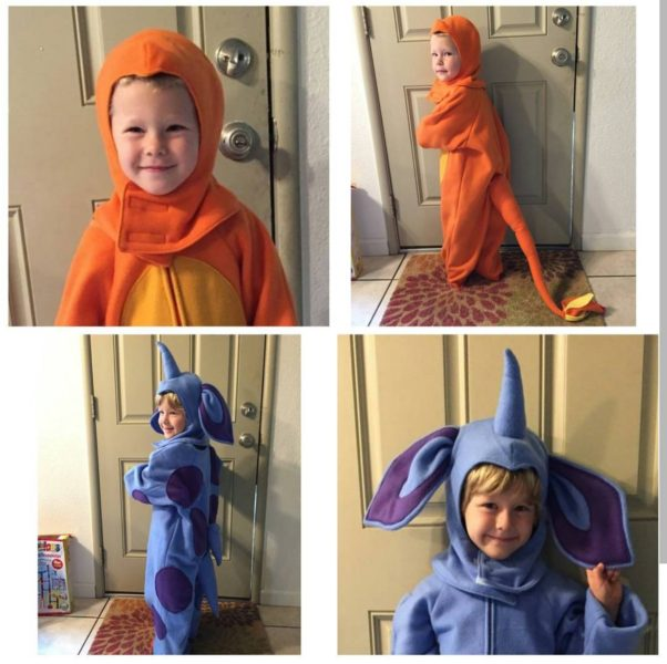 Charmander and Nidoran costume