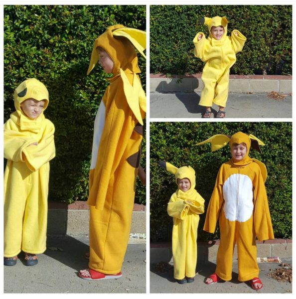 Pikachu and Raichu Costumes