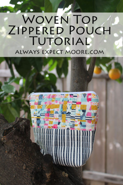 Woven Top Zippered Pouch Tutorial